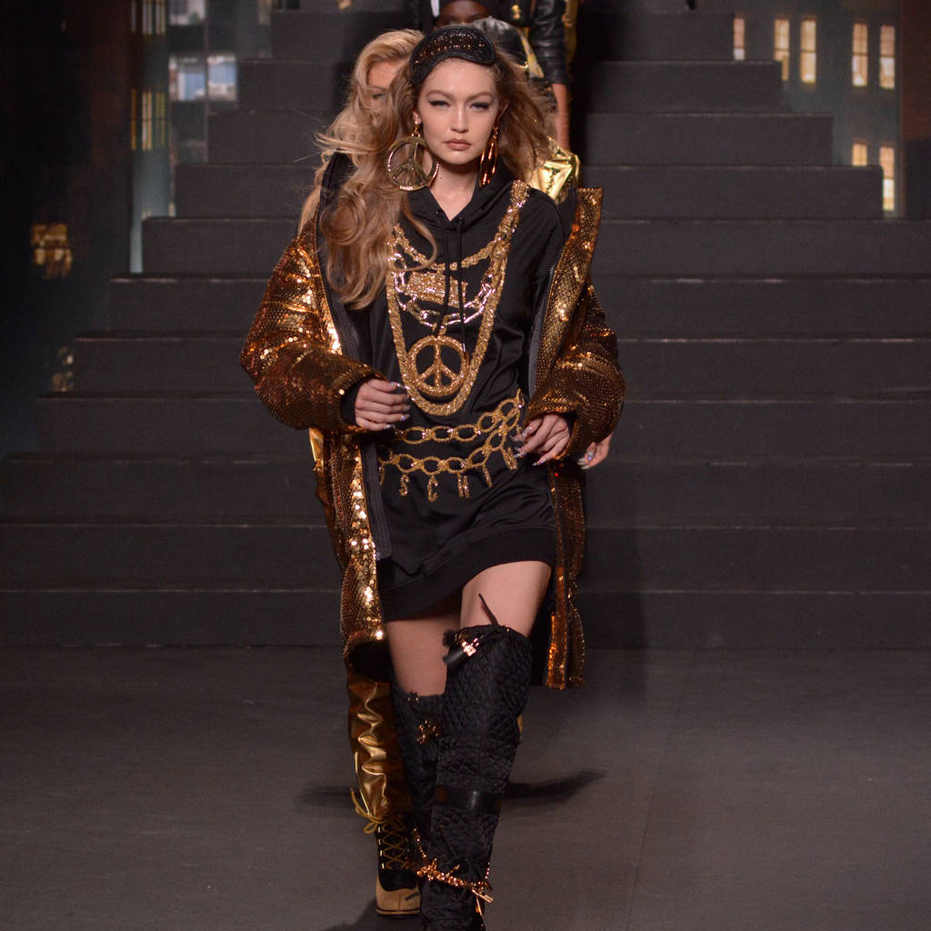 Gigi Hadid at Moschino x H&M show
