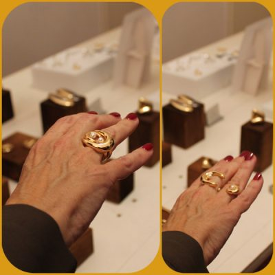 "Giulia Barela Jewelry: ring ""Abbraccio"" of ""Metafore"" Collection"