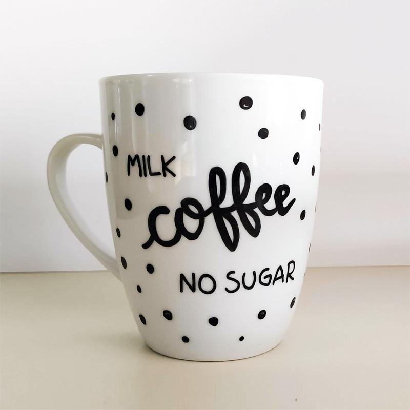 """Tazza """"milk coffee no sugar"""""""