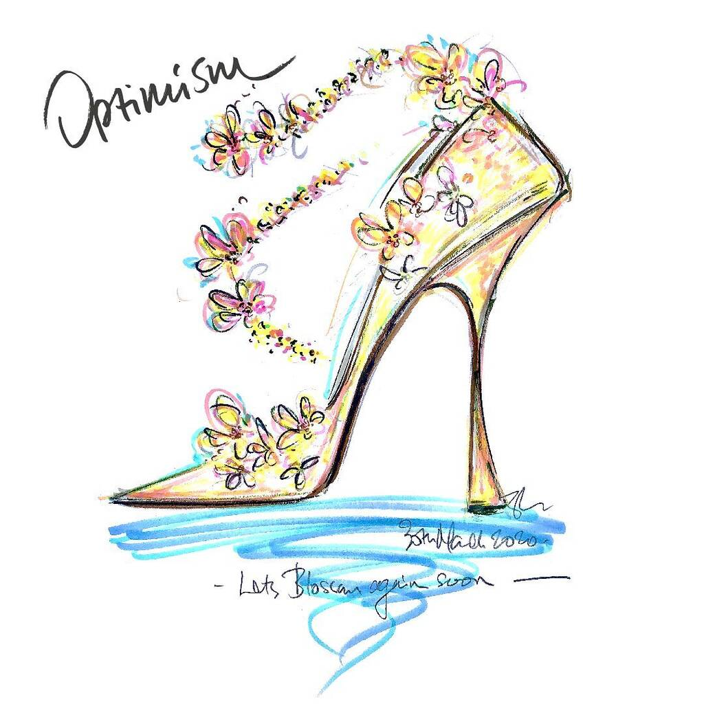 Sandra Choi shares spring-themed stiletto sketch