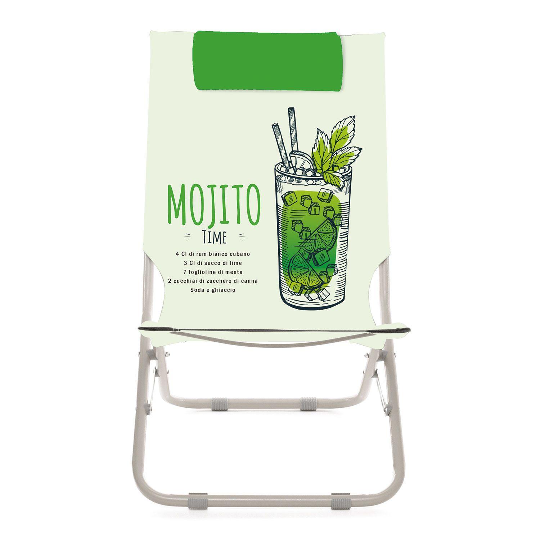 Spiaggina con poggiatesta Mojito
