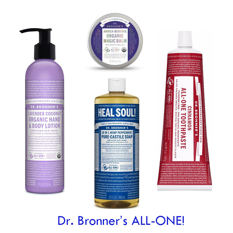 Dr. Bronner's ALL-ONE: saponi biologici e sostenibili